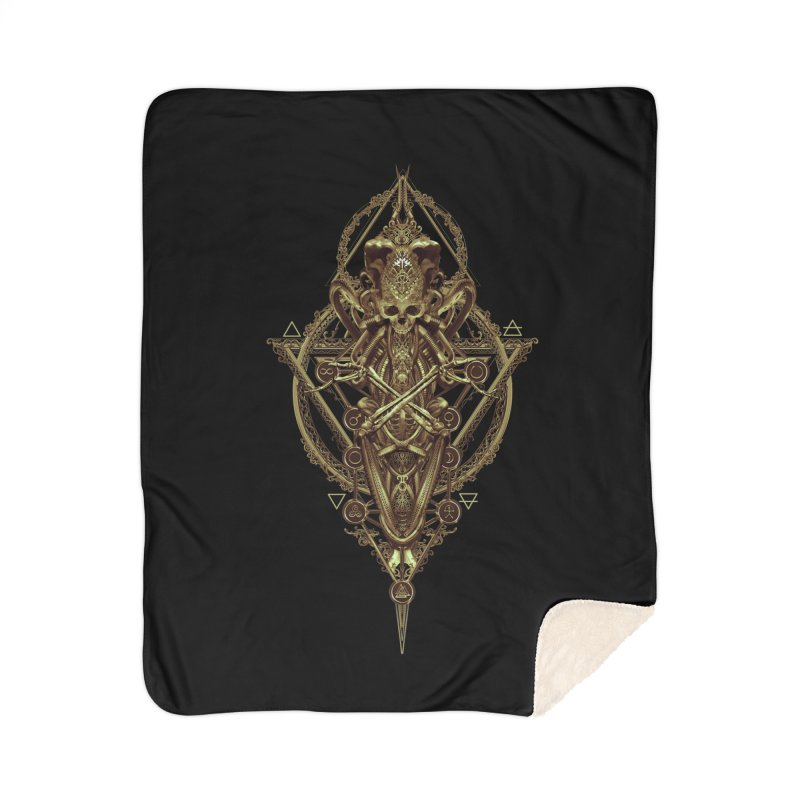 SYMBOLIC - Gold Edition Home Sherpa Blanket Blanket by HEXAD - Art and Apparel