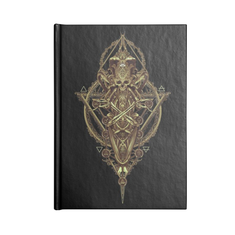SYMBOLIC - Gold Edition Accessories Lined Journal Notebook by HEXAD - Art and Apparel