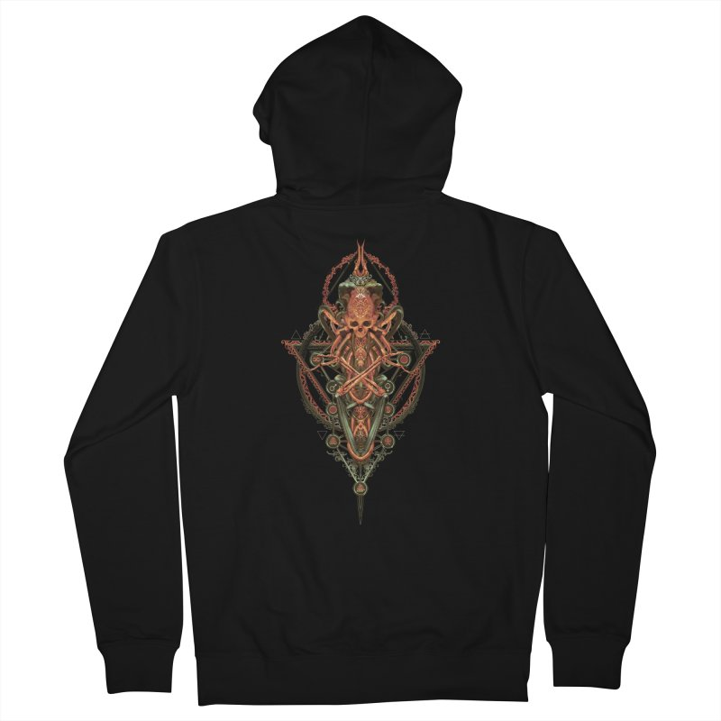SYMBOLIC - Molten Metal Edition Men's Zip-Up Hoody by HEXAD - Art and Apparel