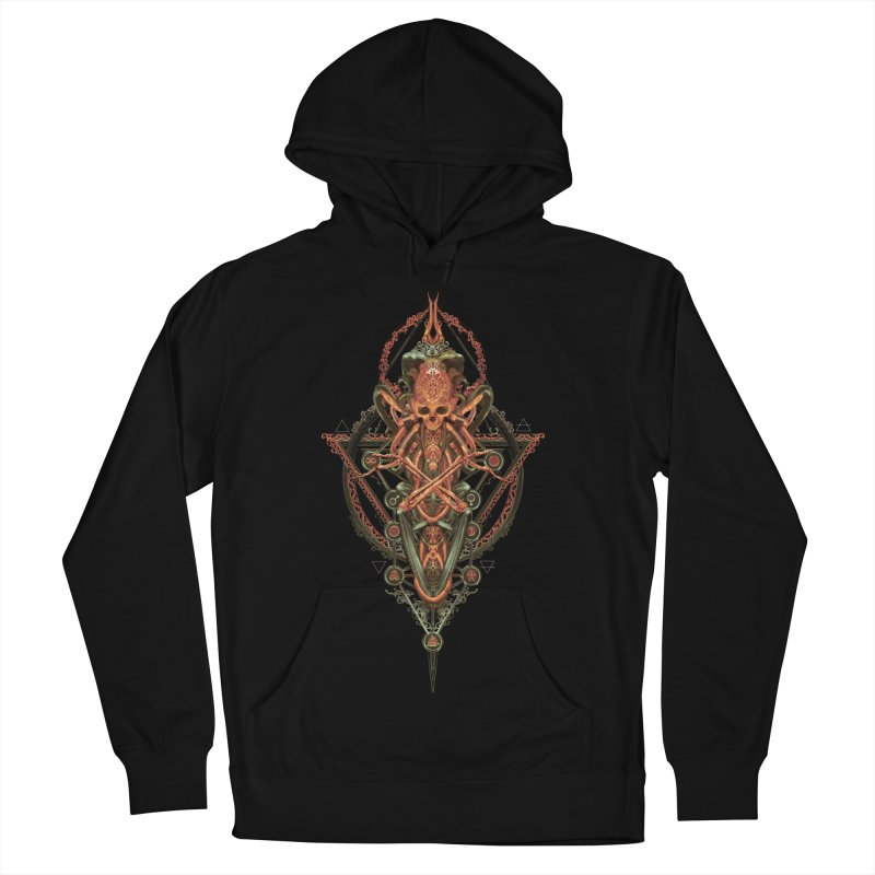 SYMBOLIC - Molten Metal Edition Women's French Terry Pullover Hoody by HEXAD - Art and Apparel