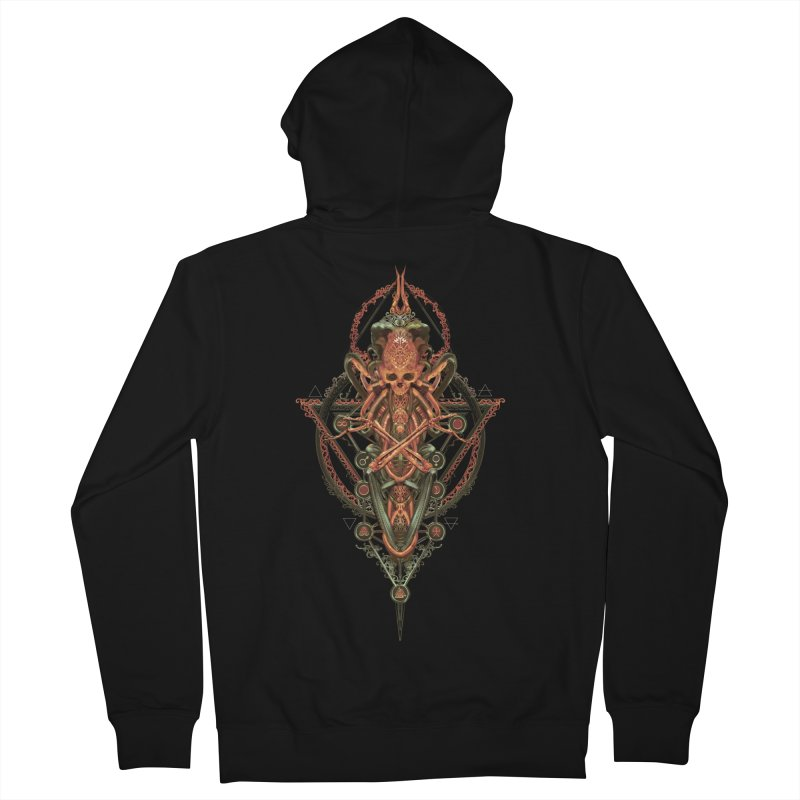 SYMBOLIC - Molten Metal Edition Women's French Terry Zip-Up Hoody by HEXAD - Art and Apparel