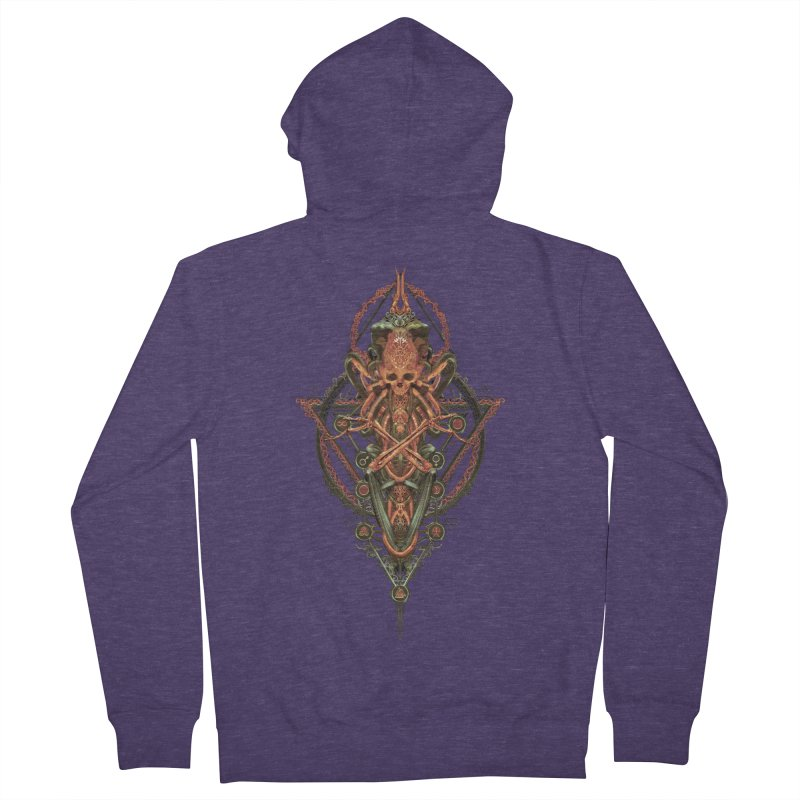 SYMBOLIC - Molten Metal Edition Men's French Terry Zip-Up Hoody by HEXAD - Art and Apparel