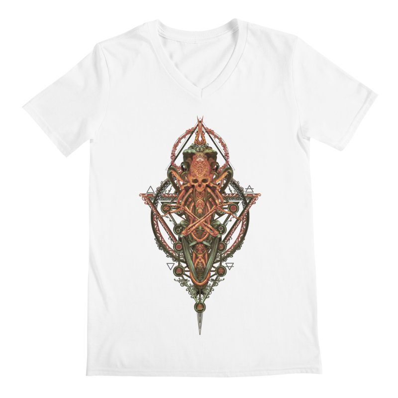 SYMBOLIC - Molten Metal Edition Men's V-Neck by HEXAD - Art and Apparel