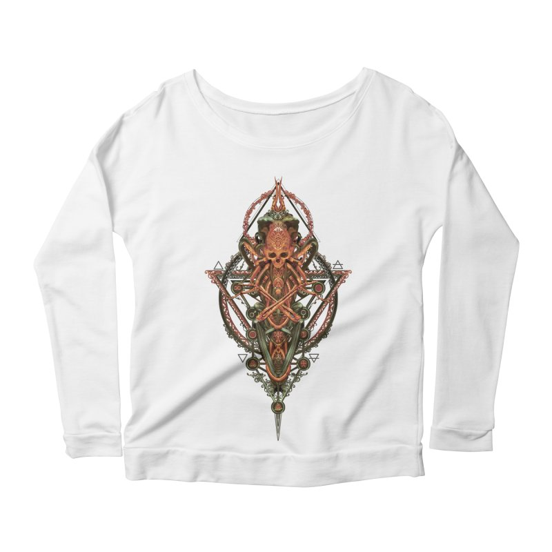 SYMBOLIC - Molten Metal Edition Women's Scoop Neck Longsleeve T-Shirt by HEXAD - Art and Apparel