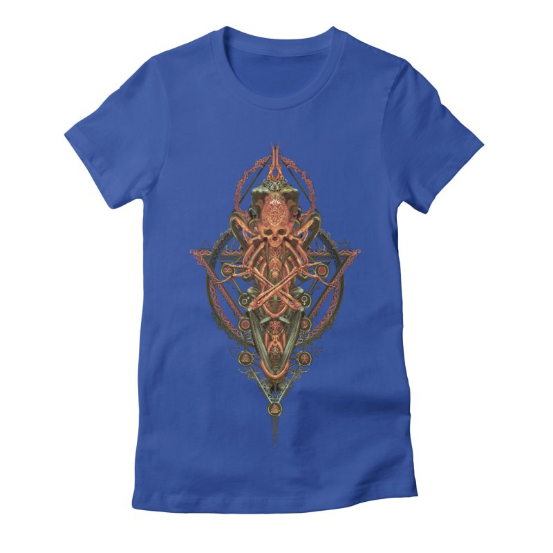 SYMBOLIC - Molten Metal Edition Women's Fitted T-Shirt by HEXAD - Art and Apparel