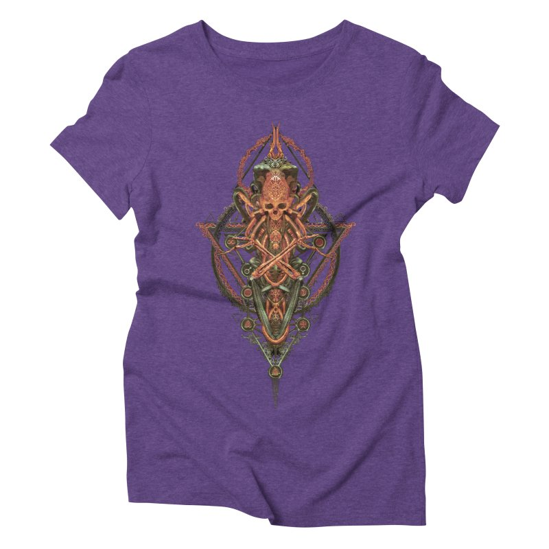 SYMBOLIC - Molten Metal Edition Women's Triblend T-Shirt by HEXAD - Art and Apparel