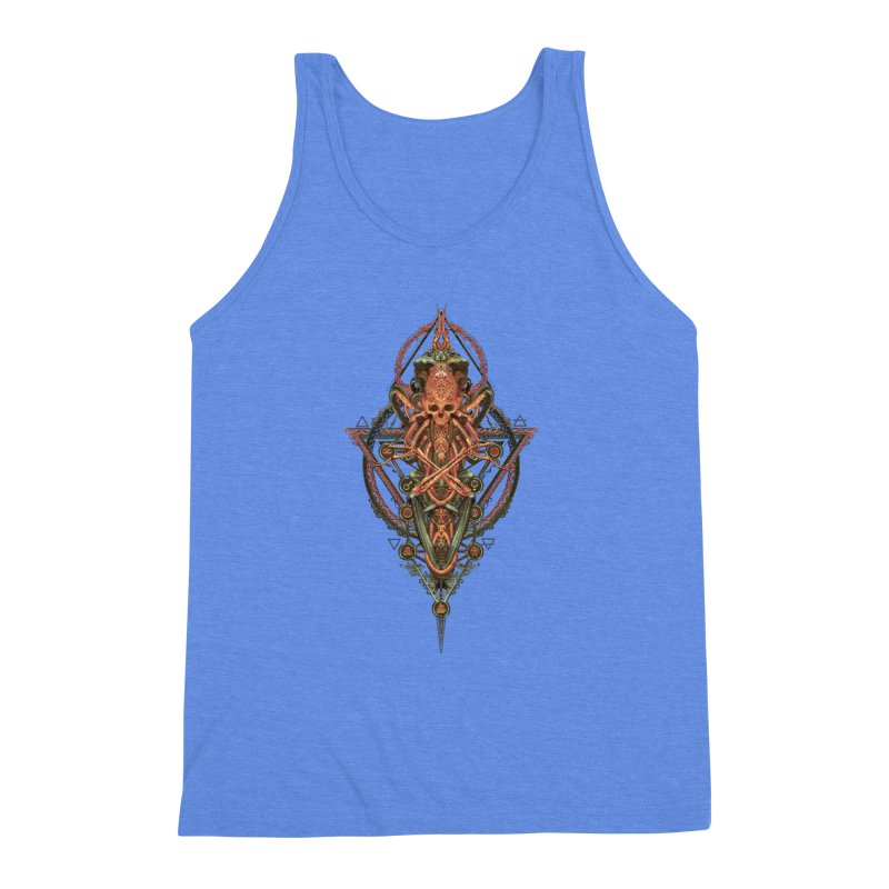 SYMBOLIC - Molten Metal Edition Men's Triblend Tank by HEXAD - Art and Apparel