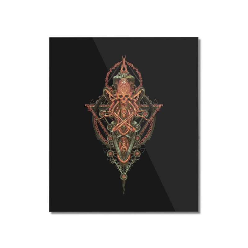 SYMBOLIC - Molten Metal Edition Home Mounted Acrylic Print by HEXAD - Art and Apparel