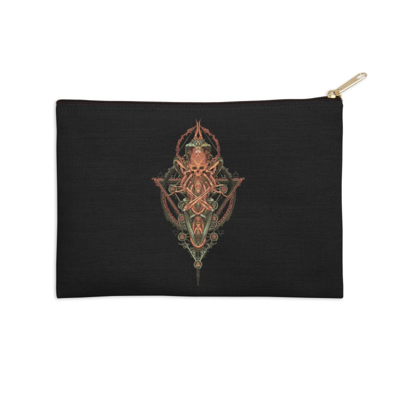 SYMBOLIC - Molten Metal Edition Accessories Zip Pouch by HEXAD - Art and Apparel