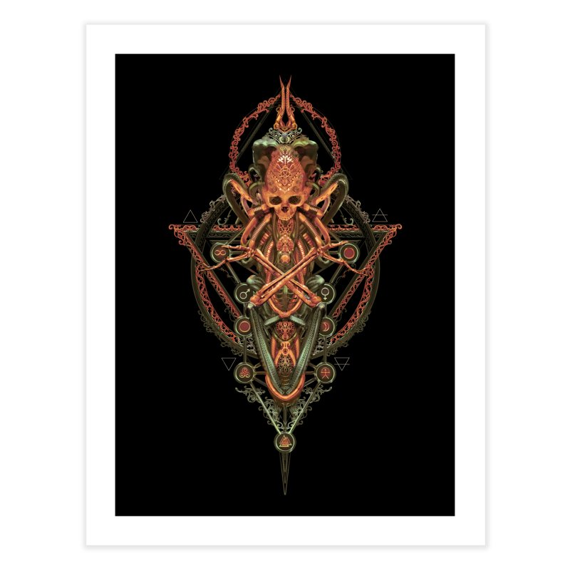 SYMBOLIC - Molten Metal Edition Home Fine Art Print by HEXAD - Art and Apparel