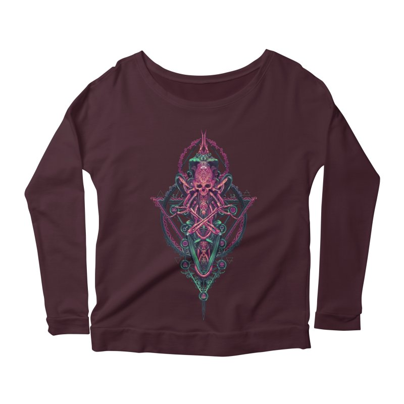 SYMBOLIC - Mystic Edition Women's Longsleeve Scoopneck  by HEXAD - Art and Apparel