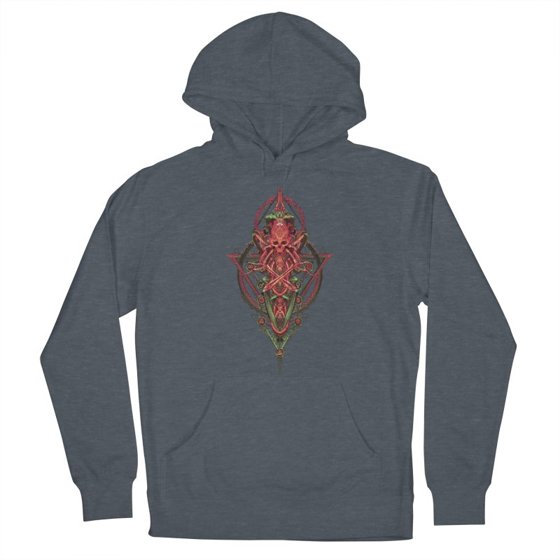 SYMBOLIC - Red Edition Women's French Terry Pullover Hoody by HEXAD - Art and Apparel