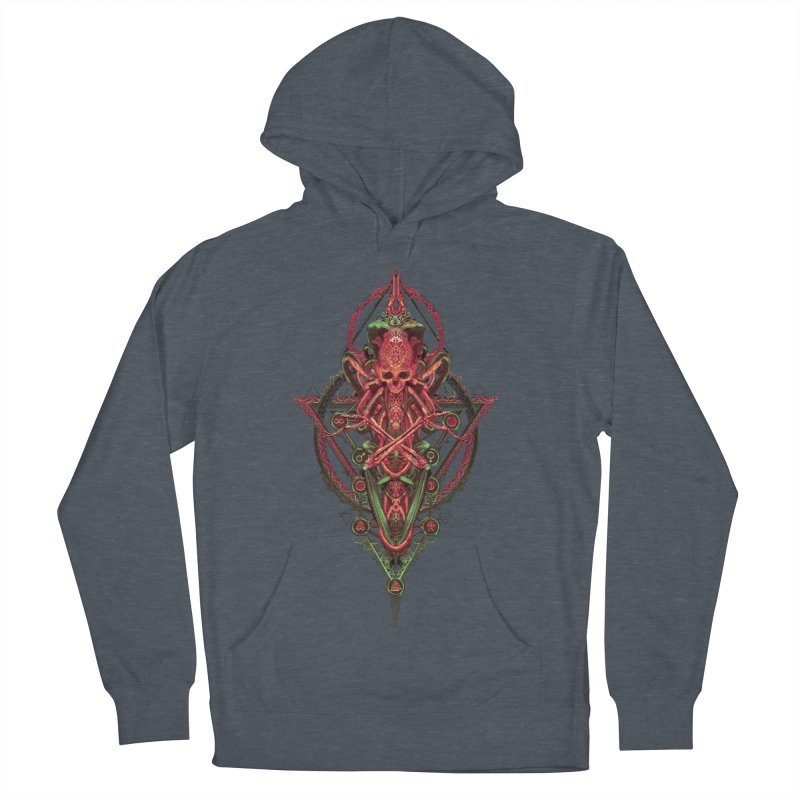 SYMBOLIC - Red Edition Men's French Terry Pullover Hoody by HEXAD - Art and Apparel