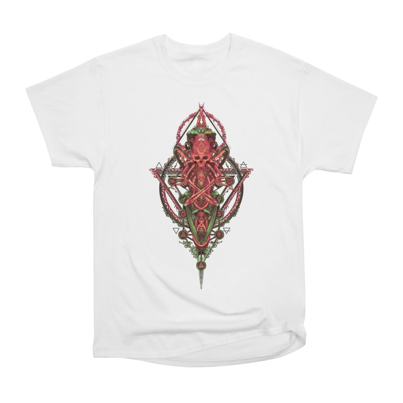 SYMBOLIC - Red Edition Men's Heavyweight T-Shirt by HEXAD - Art and Apparel