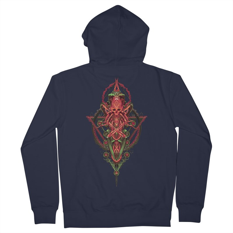 SYMBOLIC - Red Edition Women's French Terry Zip-Up Hoody by HEXAD - Art and Apparel