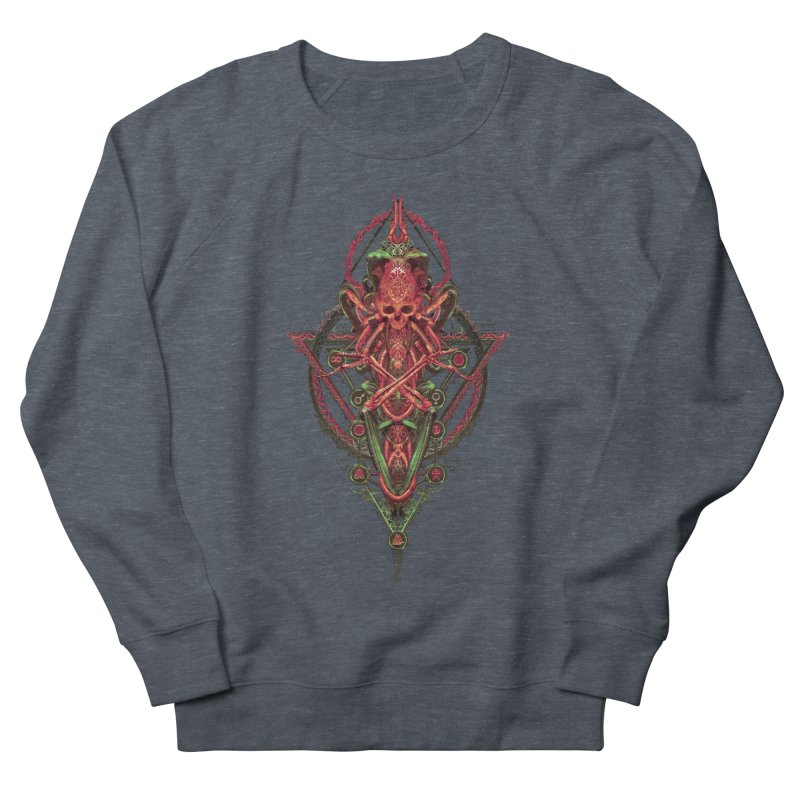 SYMBOLIC - Red Edition Men's French Terry Sweatshirt by HEXAD - Art and Apparel