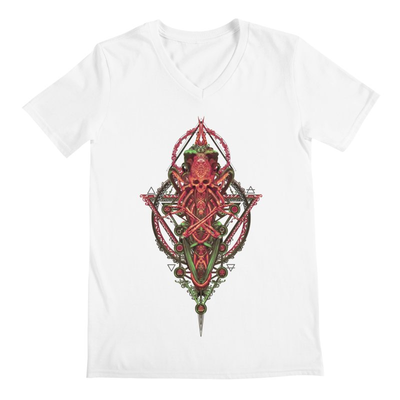 SYMBOLIC - Red Edition Men's V-Neck by HEXAD - Art and Apparel