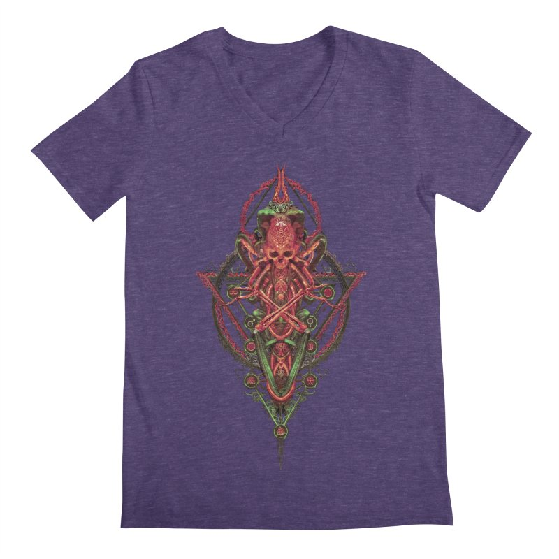 SYMBOLIC - Red Edition Men's Regular V-Neck by HEXAD - Art and Apparel