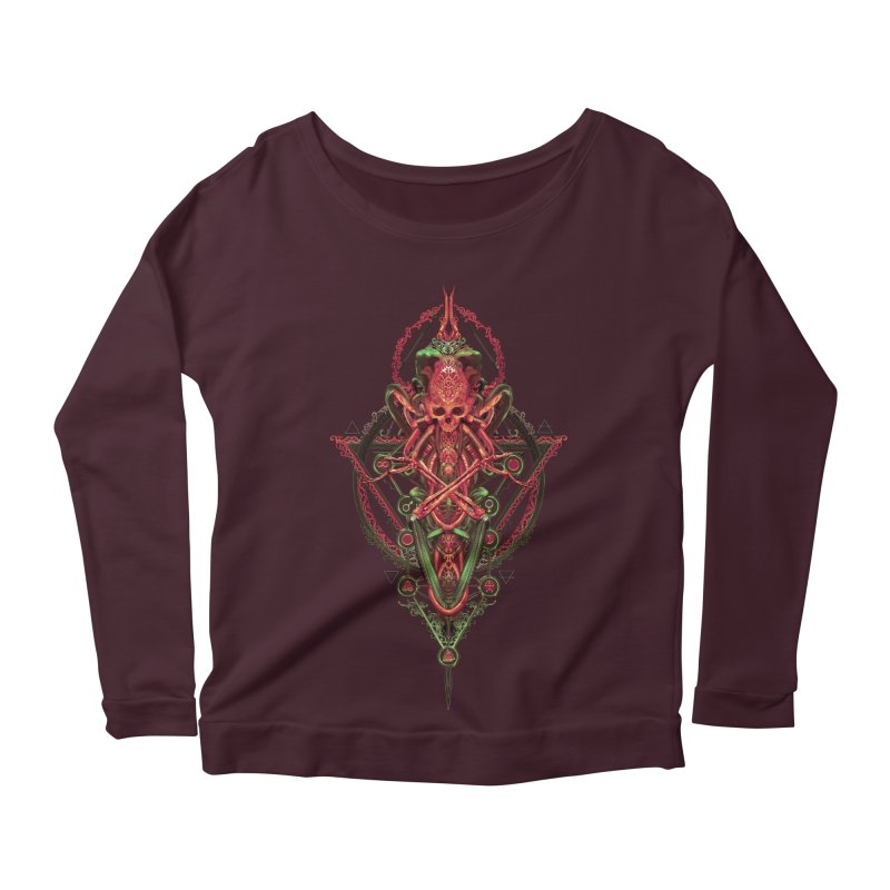 SYMBOLIC - Red Edition Women's Scoop Neck Longsleeve T-Shirt by HEXAD - Art and Apparel