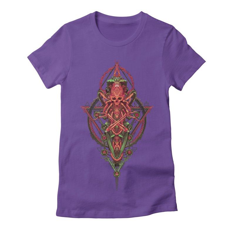 SYMBOLIC - Red Edition Women's Fitted T-Shirt by HEXAD - Art and Apparel