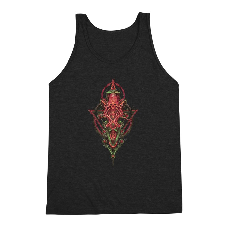 SYMBOLIC - Red Edition Men's Triblend Tank by HEXAD - Art and Apparel