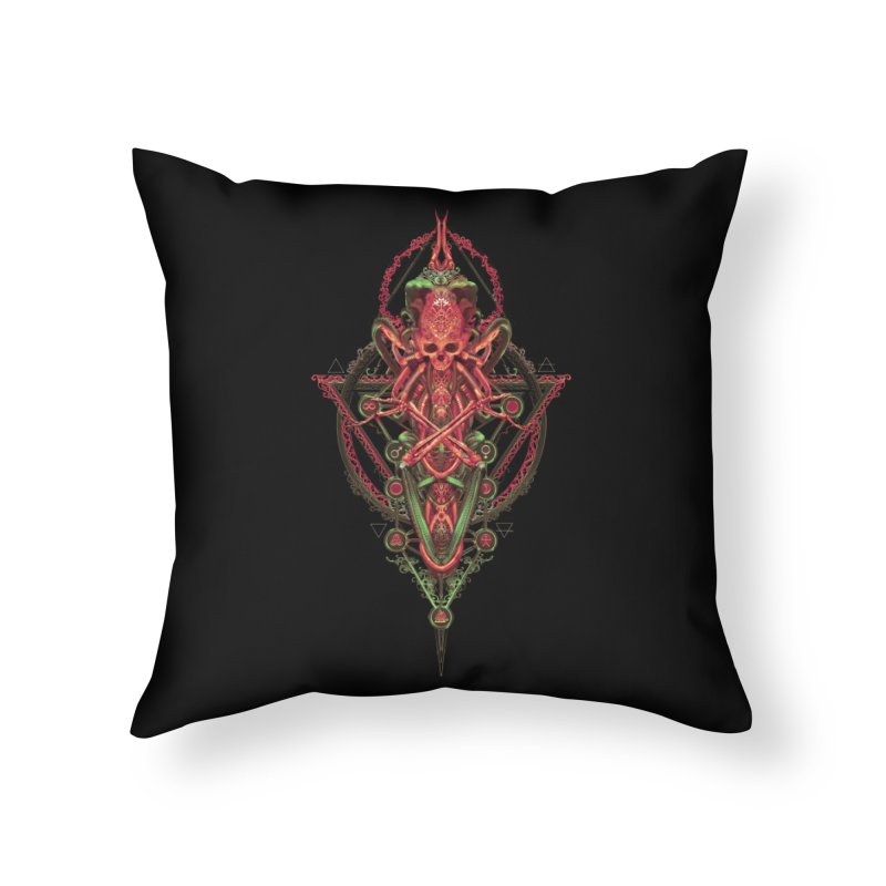 SYMBOLIC - Red Edition Home Throw Pillow by HEXAD - Art and Apparel