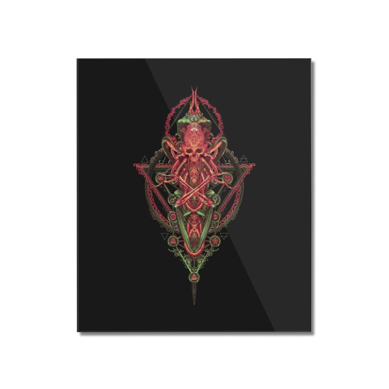 SYMBOLIC - Red Edition Home Mounted Acrylic Print by HEXAD - Art and Apparel