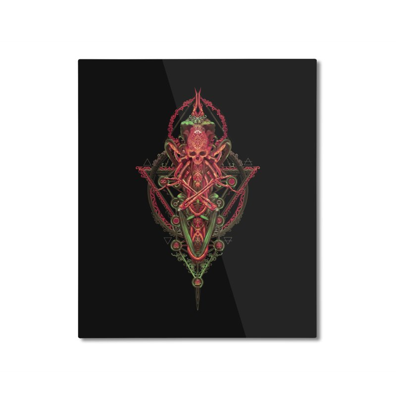 SYMBOLIC - Red Edition Home Mounted Aluminum Print by HEXAD - Art and Apparel
