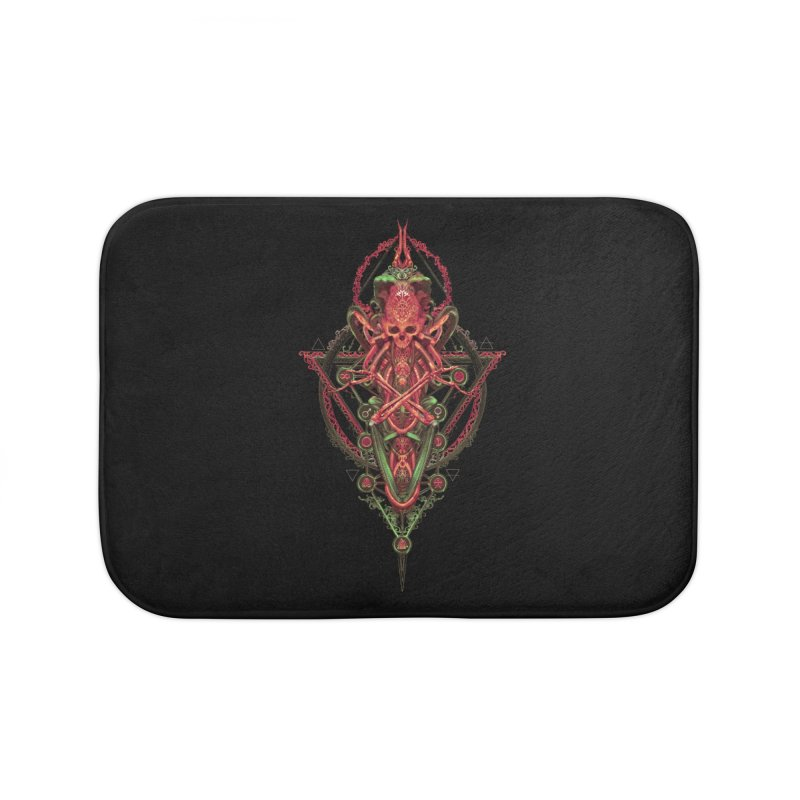 SYMBOLIC - Red Edition Home Bath Mat by HEXAD - Art and Apparel