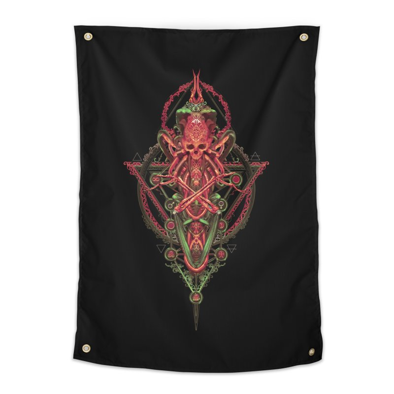 SYMBOLIC - Red Edition Home Tapestry by HEXAD - Art and Apparel