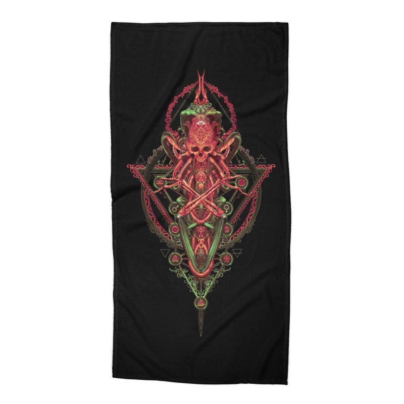 SYMBOLIC - Red Edition Accessories Beach Towel by HEXAD - Art and Apparel