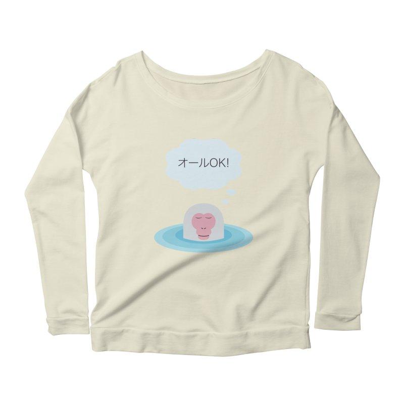Old World Thought Monkey: オールOK! Women's Scoop Neck Longsleeve T-Shirt by Hexad Studio