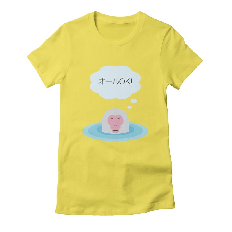 Old World Thought Monkey: オールOK! Women's Fitted T-Shirt by Hexad Studio