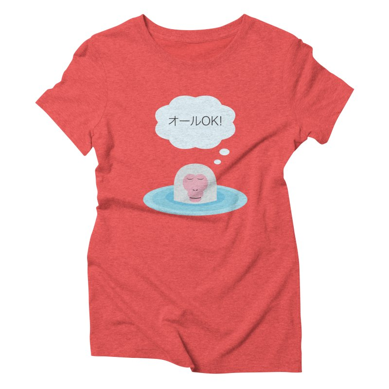 Old World Thought Monkey: オールOK! Women's Triblend T-Shirt by Hexad Studio