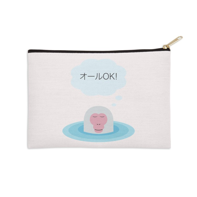 Old World Thought Monkey: オールOK! Accessories Zip Pouch by Hexad Studio
