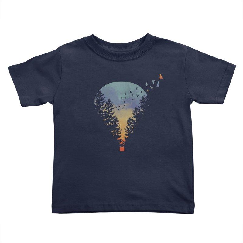 Flying Far Far Away Kids Toddler T-Shirt by heyale's Artist Shop