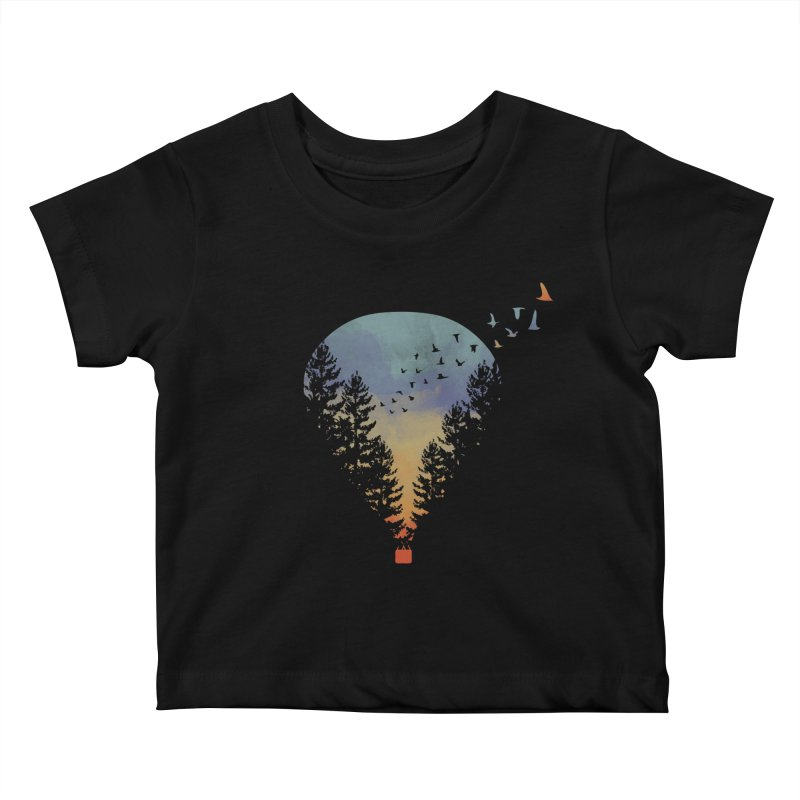 Flying Far Far Away Kids Baby T-Shirt by heyale's Artist Shop