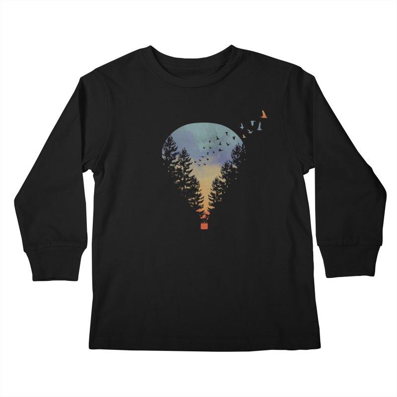 Flying Far Far Away Kids Longsleeve T-Shirt by heyale's Artist Shop