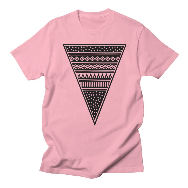 Tribal Triangle Men's T-shirt by heyale's Artist Shop