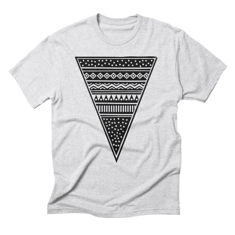 Tribal Triangle in Men's Triblend T-shirt Heather White by heyale's Artist Shop