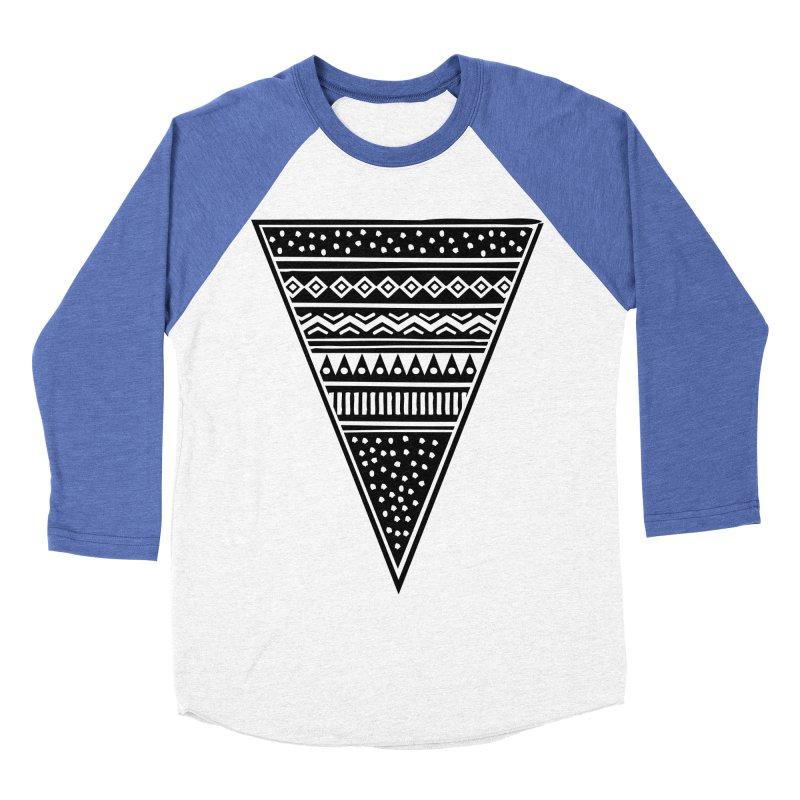 Tribal Triangle Women's Baseball Triblend T-Shirt by heyale's Artist Shop