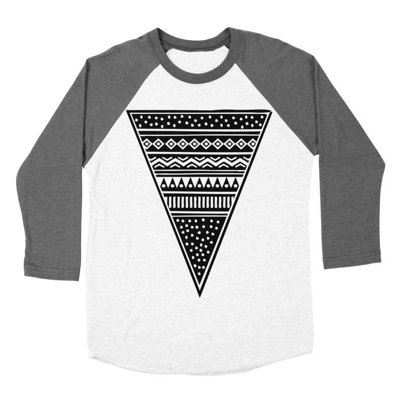 Tribal Triangle Women's Baseball Triblend T-Shirt by heyale's Artist Shop