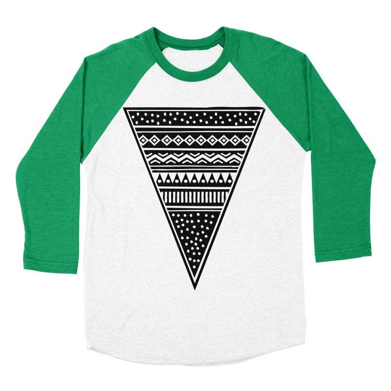 Tribal Triangle Men's Baseball Triblend T-Shirt by heyale's Artist Shop