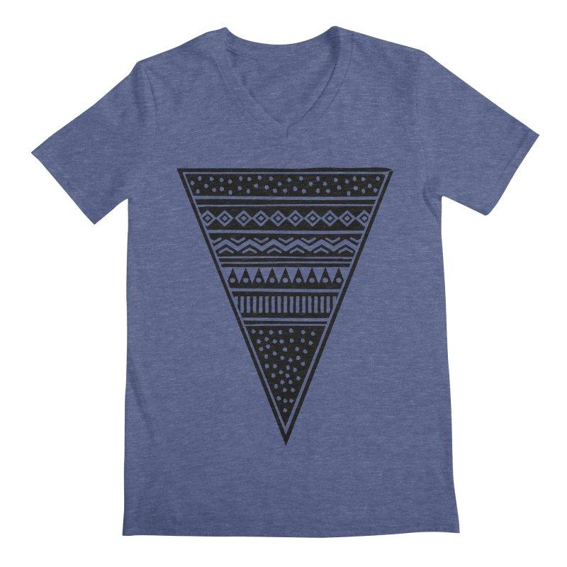 Tribal Triangle Men's V-Neck by heyale's Artist Shop