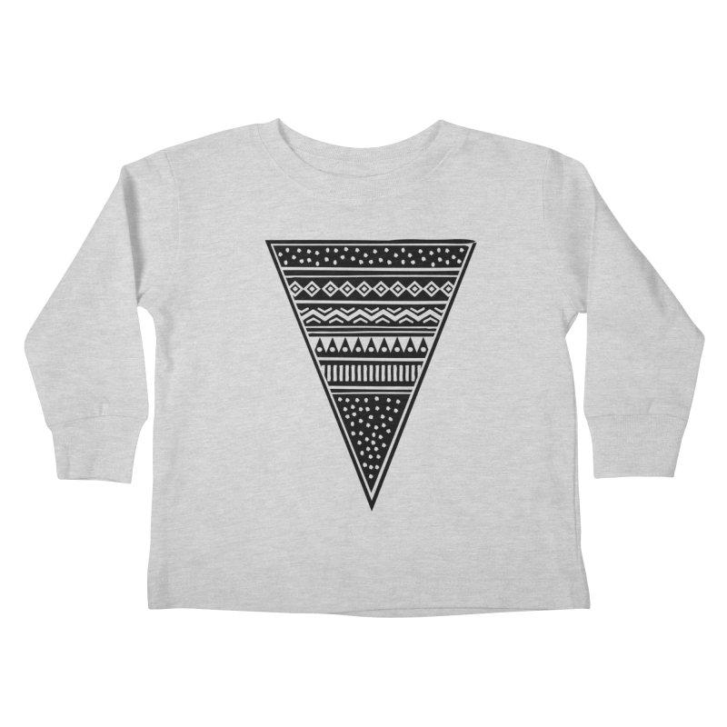 Tribal Triangle Kids Toddler Longsleeve T-Shirt by heyale's Artist Shop