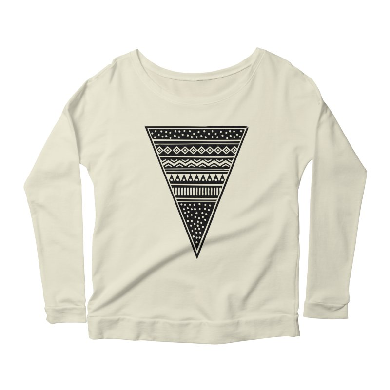 Tribal Triangle Women's Longsleeve Scoopneck  by heyale's Artist Shop