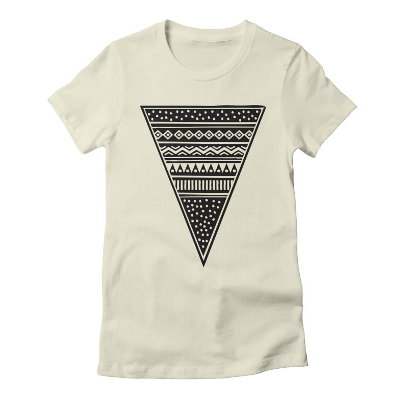 Tribal Triangle Women's Fitted T-Shirt by heyale's Artist Shop