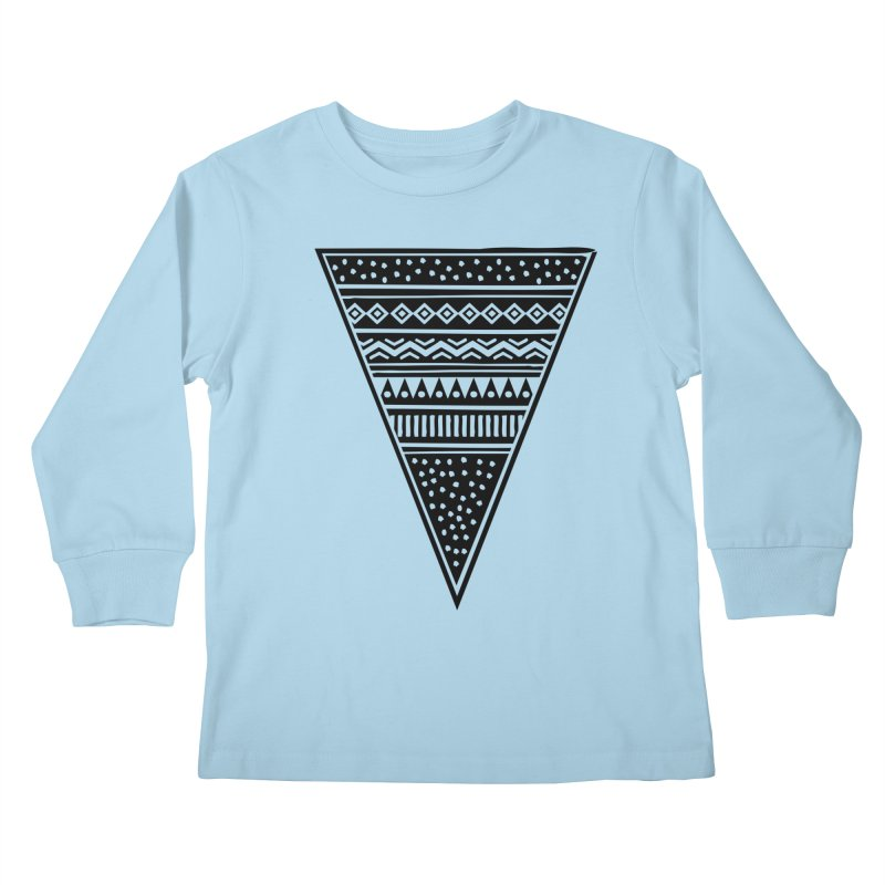 Tribal Triangle Kids Longsleeve T-Shirt by heyale's Artist Shop