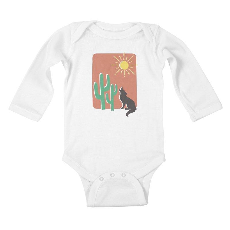 In the desert Kids Baby Longsleeve Bodysuit by heyale's Artist Shop