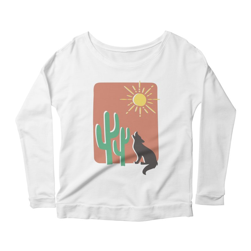 In the desert Women's Longsleeve Scoopneck  by heyale's Artist Shop